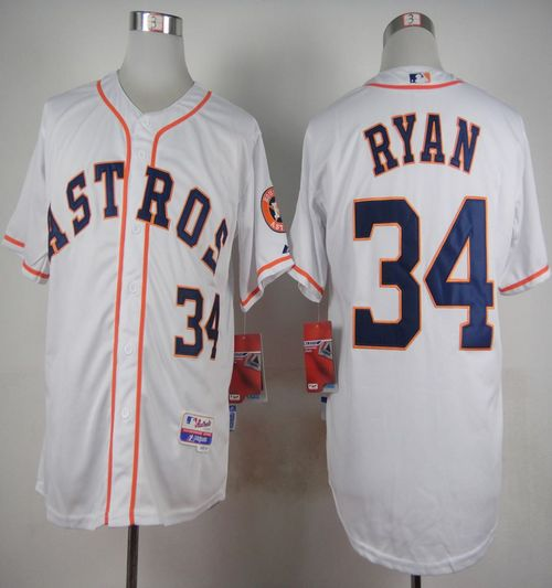 Astros #34 Nolan Ryan White Cool Base Stitched MLB Jersey
