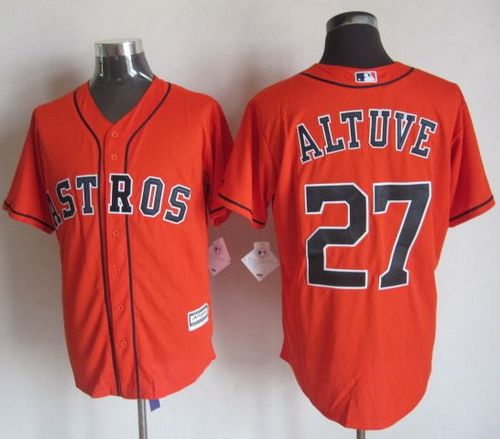 Astros #27 Jose Altuve Orange New Cool Base Stitched MLB Jersey