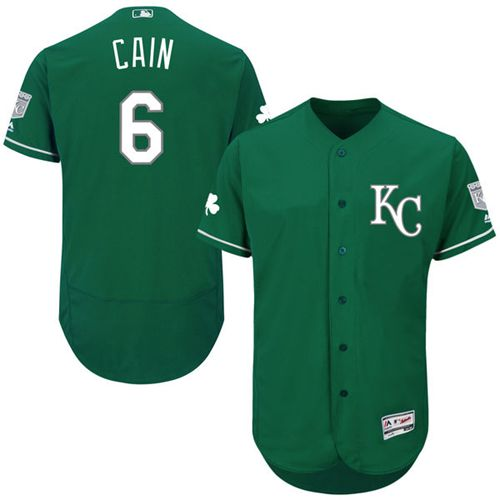 Royals #6 Lorenzo Cain Green Celtic Flexbase Authentic Collection Stitched MLB Jersey