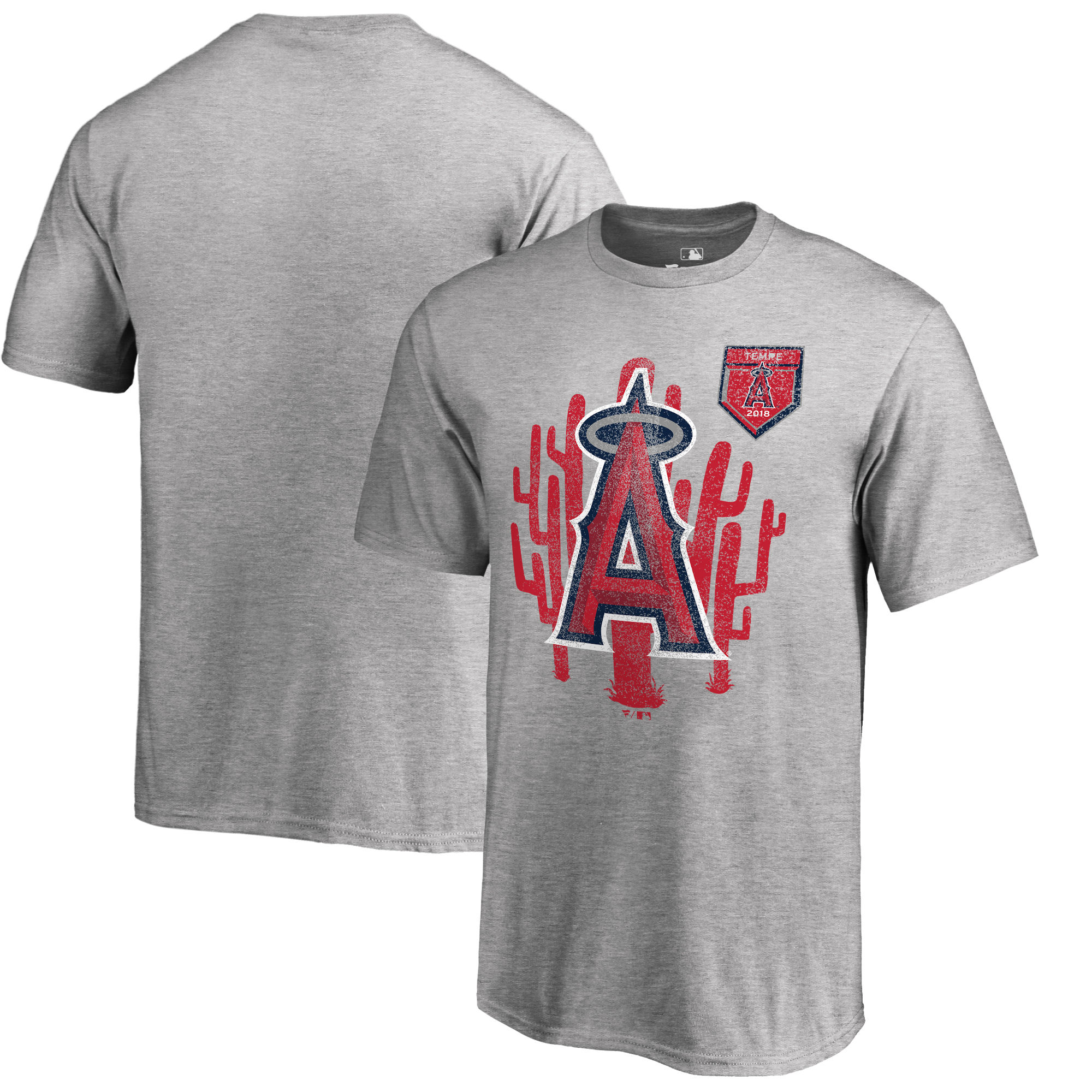 Men's Los Angeles Angels Fanatics Branded 2018 Spring Training Vintage Team Specific T-Shirt – Heathered Gray