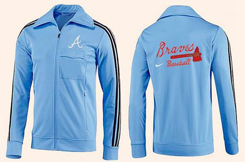 MLB Atlanta Braves Zip Jacket Light Blue