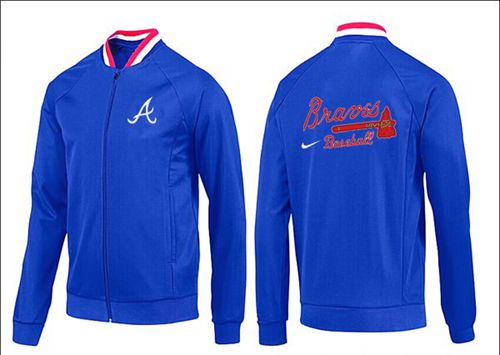 MLB Atlanta Braves Zip Jacket Blue_1