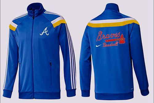 MLB Atlanta Braves Zip Jacket Blue_2