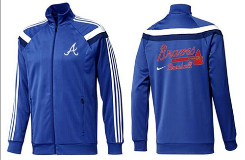 MLB Atlanta Braves Zip Jacket Blue_3