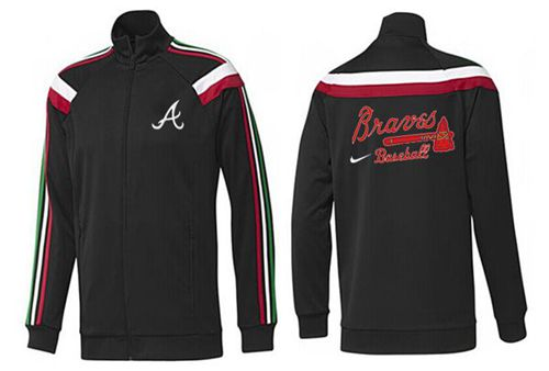 MLB Atlanta Braves Zip Jacket Black_1