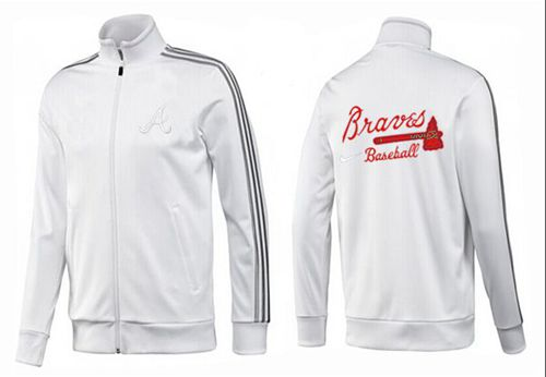 MLB Atlanta Braves Zip Jacket White_1