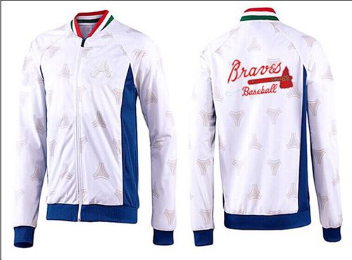 MLB Atlanta Braves Zip Jacket White_3