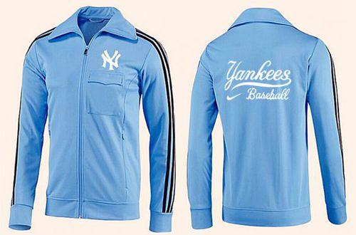 MLB New York Yankees Zip Jacket Light Blue