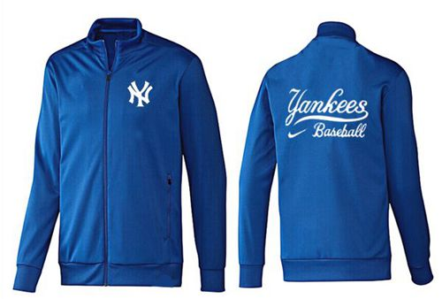 MLB New York Yankees Zip Jacket Blue_1