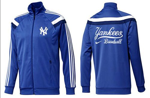 MLB New York Yankees Zip Jacket Blue_4