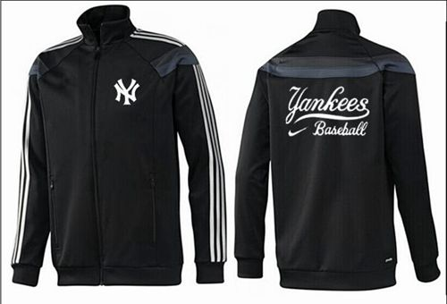 MLB New York Yankees Zip Jacket Black_3