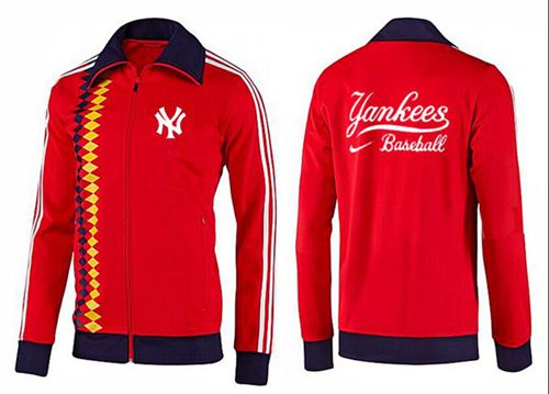 MLB New York Yankees Zip Jacket Orange