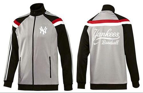 MLB New York Yankees Zip Jacket Grey