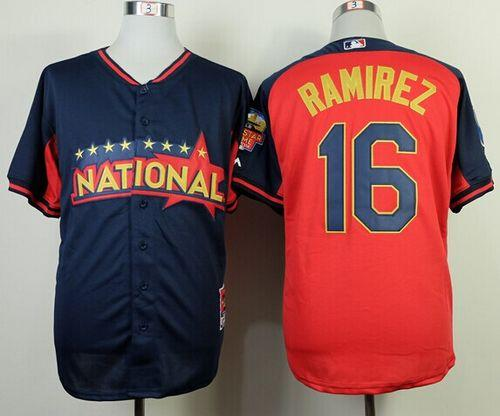 Brewers #16 Aramis Ramirez Navy/Red National League 2014 All Star BP Stitched MLB Jersey
