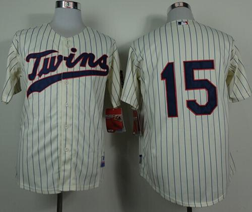 Twins #15 Glen Perkins Cream Cool Base Stitched MLB Jersey