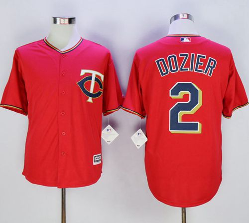 Twins #2 Brian Dozier Red New Cool Base Stitched MLB Jersey