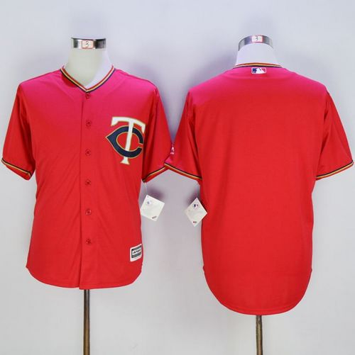 Twins Blank Red New Cool Base Stitched MLB Jersey