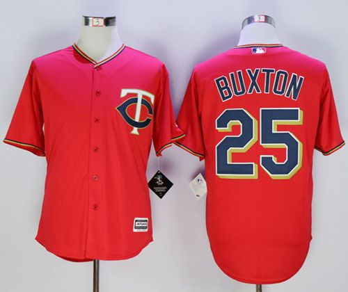 Twins #25 Byron Buxton Red New Cool Base Stitched MLB Jersey