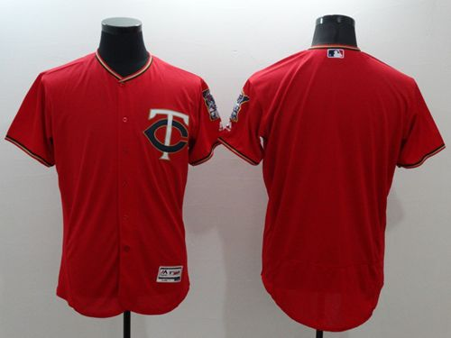 Twins Blank Red Flexbase Authentic Collection Stitched MLB Jersey