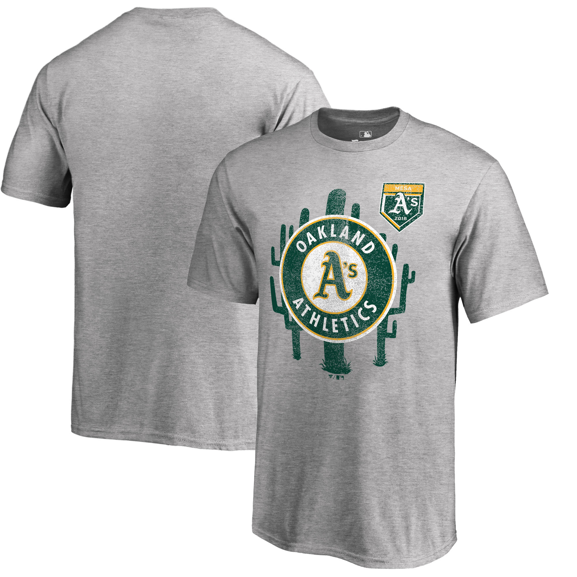 Men's Oakland Athletics Fanatics Branded 2018 MLB Spring Training Vintage T-Shirt – Heather Gray