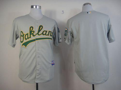 Athletics Blank Grey Cool Base Stitched MLB Jersey
