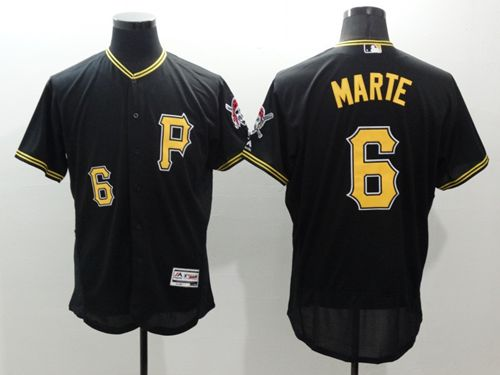 Pirates #6 Starling Marte Black Flexbase Authentic Collection Stitched MLB Jersey