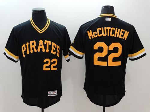 Pirates #22 Andrew McCutchen Black Flexbase Authentic Collection Cooperstown Stitched MLB Jersey