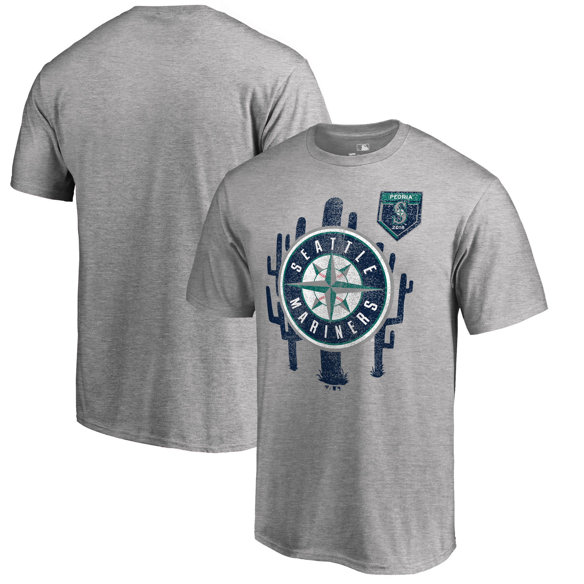 Men's Seattle Mariners Fanatics Branded 2018 Spring Training Vintage Big & Tall T-Shirt – Heather Gray