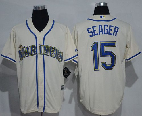 Mariners #15 Kyle Seager Cream New Cool Base Stitched MLB Jersey
