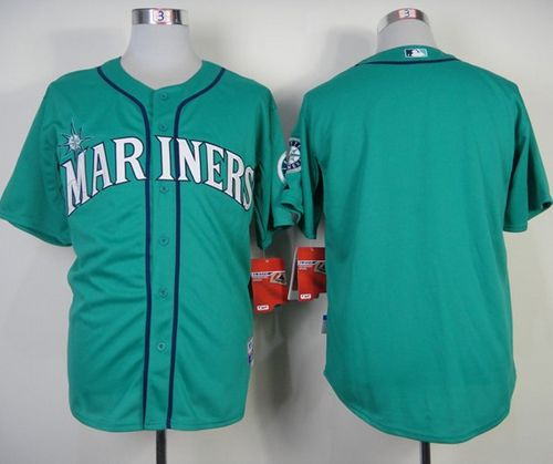 Mariners Blank Green Alternate Cool Base Stitched MLB Jersey