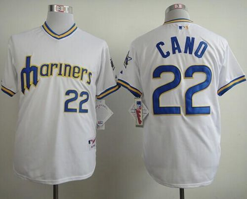 Mariners #22 Robinson Cano White 1979 Turn Back The Clock Stitched MLB Jersey