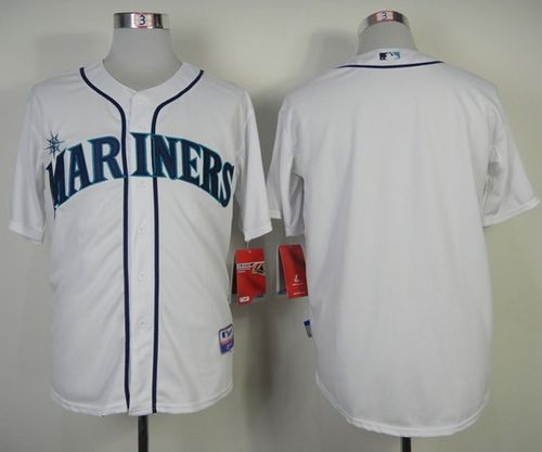 Mariners Blank White Cool Base Stitched MLB Jersey