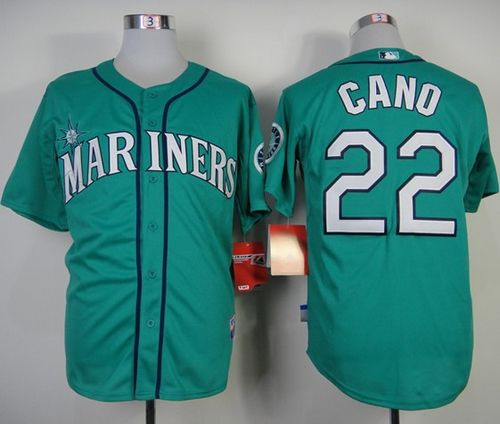 Mariners #22 Robinson Cano Green Alternate Cool Base Stitched MLB Jersey