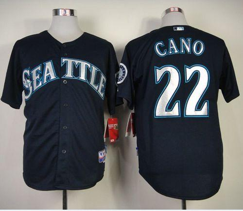 Mariners #22 Robinson Cano Navy Blue Cool Base Stitched MLB Jersey