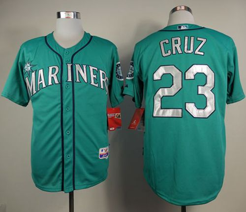Mariners #23 Nelson Cruz Green Cool Base Stitched MLB Jersey