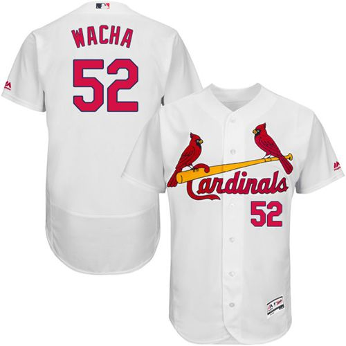 Cardinals #52 Michael Wacha White Flexbase Authentic Collection Stitched MLB Jersey