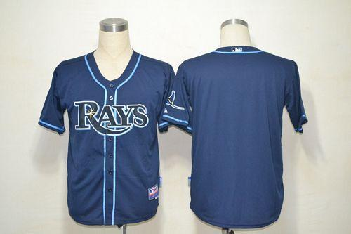 Rays Blank Dark Blue Cool Base Stitched MLB Jersey
