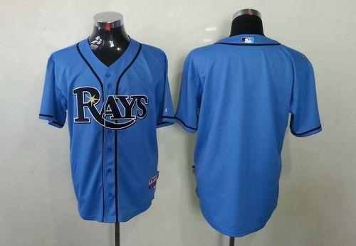 Rays Blank Light Blue Cool Base Stitched MLB Jersey