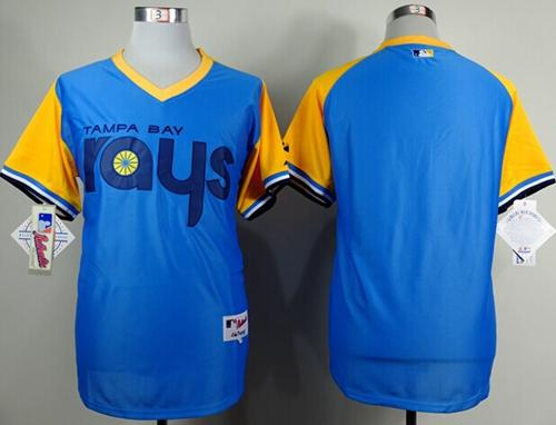 Rays Blank Light Blue 1988 Turn Back The Clcok Stitched MLB Jersey