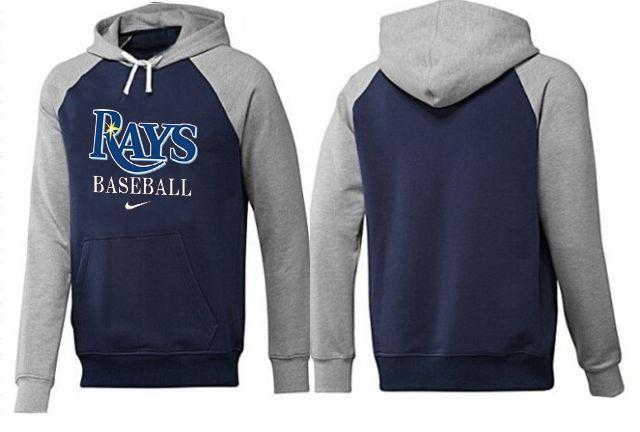 Tampa Bay Rays Pullover Hoodie Dark Blue & Grey