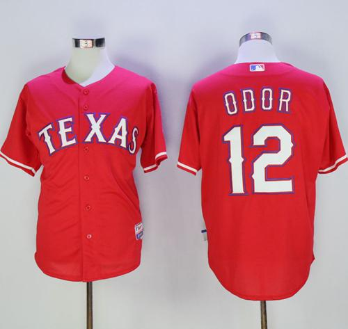 Rangers #12 Rougned Odor Red Cool Base Stitched MLB Jersey