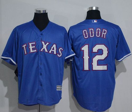 Rangers #12 Rougned Odor Blue New Cool Base Stitched MLB Jersey