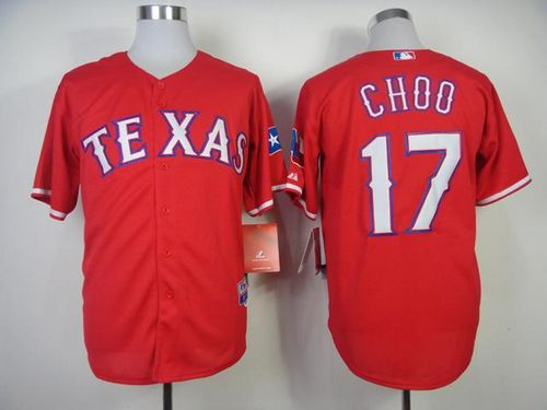 Rangers #17 Shin-Soo Choo Red Cool Base Stitched MLB Jersey