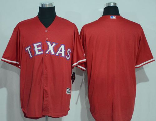 Rangers Blank Red New Cool Base Stitched MLB Jersey