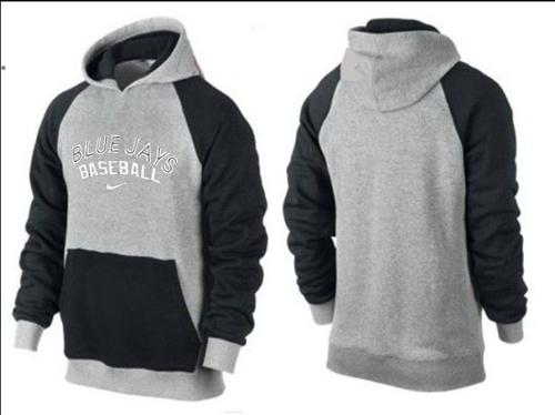Toronto Blue Jays Pullover Hoodie Grey & Black