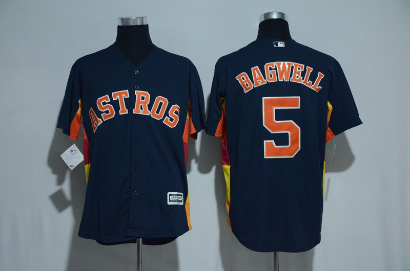 Men's Houston Astros #5 Jeff Bagwell Majestic Navy Alternate Cool Base Stitched MLB Jersey