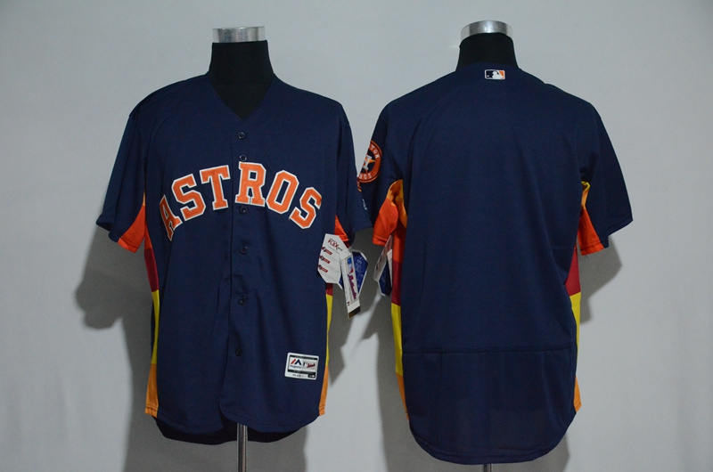 Men's Houston Astros Majestic Alternate Navy Flex Base Authentic Collection Stitched MLB Jersey