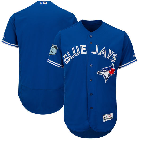 Men's Toronto Blue Jays Majestic Royal 2017 Spring Training Authentic Flex Base Team Stitched MLB Jersey