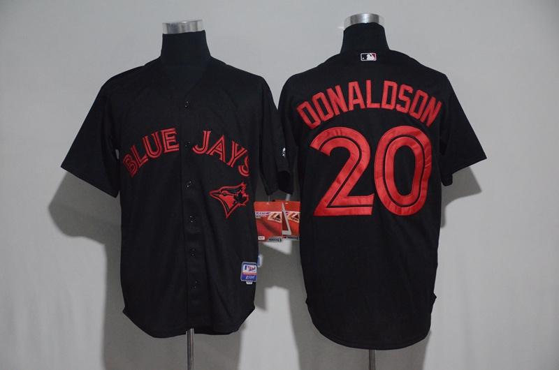 Toronto Blue Jays #20 Josh Donaldson Black Strip Stitched MLB Jersey