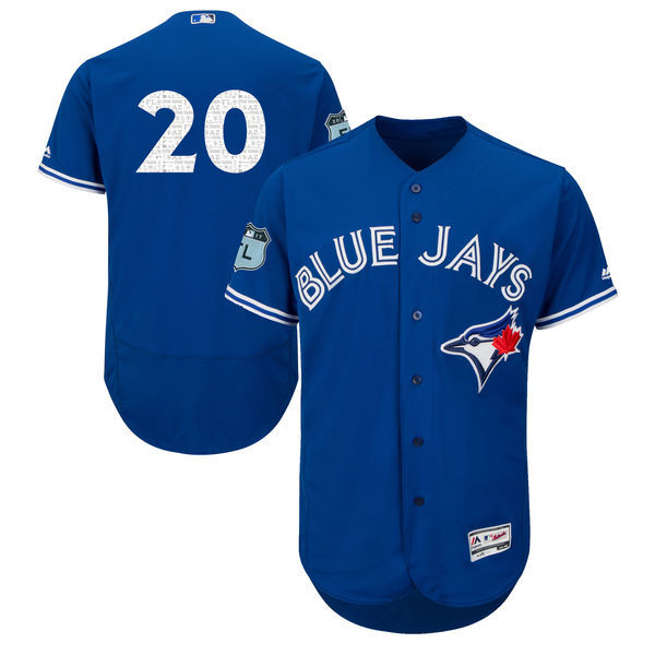 Men's Toronto Blue Jays #20 Josh Donaldson Majestic Royal 2017 Spring Training Authentic Flex Base Player Stitched MLB Jersey